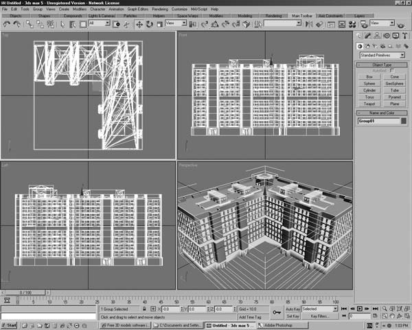 Residential Condo Dwelling Building 3ds 3d Studio