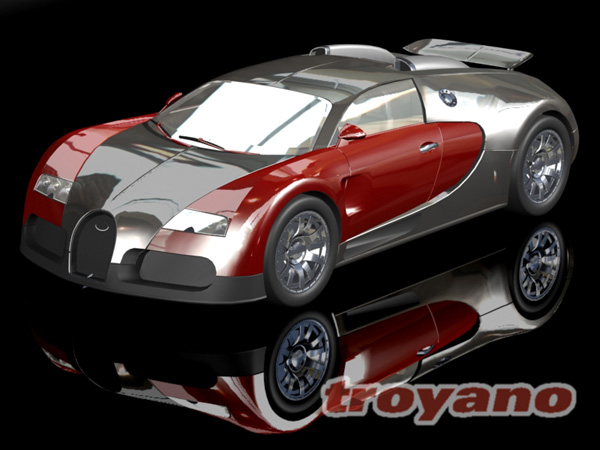 bugatti veyron mid engine sports car max 3ds max software transportation. Black Bedroom Furniture Sets. Home Design Ideas