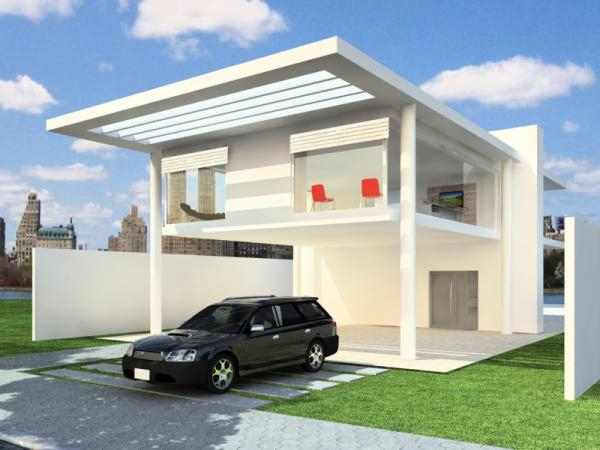 Modern Garage House Real Estate Property Max 3ds Max