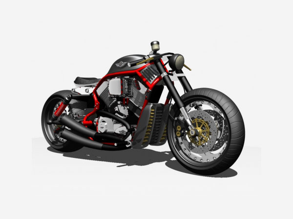 ... Bobber Motorcycle, (.max) 3ds max software Transportation Objects