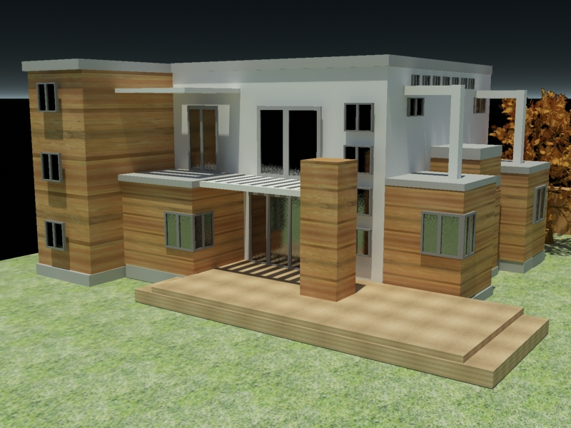 Building architecture home exterior house max 3ds max Home modeling software