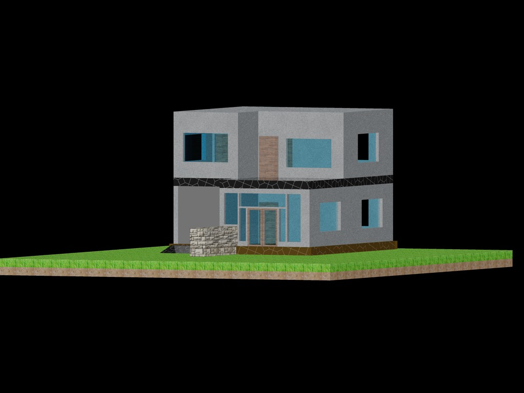 Perfect family house dwg dxf autocad software for 3d building design online free